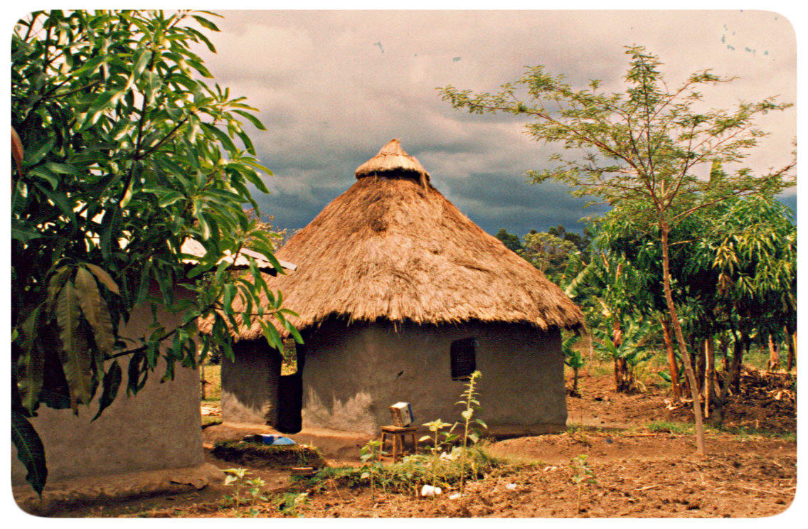 mud hut east africa