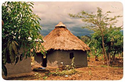 mud hut east africa