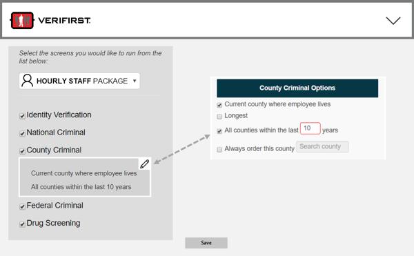 Background Check Package Builder VeriFirst