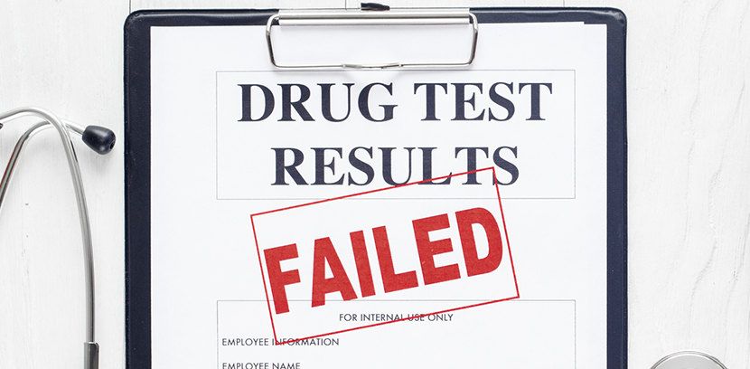 Employee Failed Drug Test Results