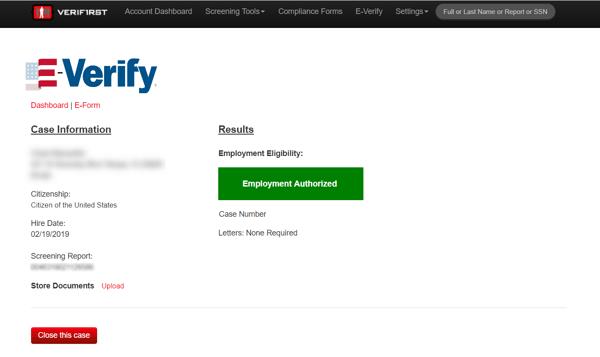 E-Verify VeriFirst