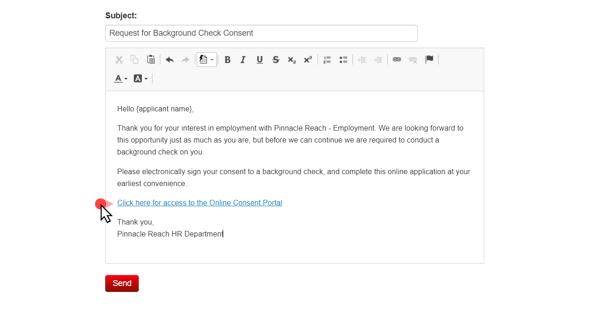 VeriFirst Background Check Consent Invite