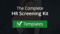 Human Resources Background Screening Kit and Templates